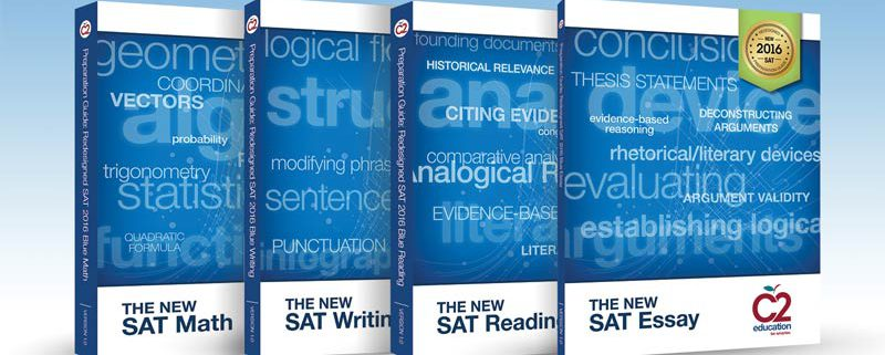 c2 education books on the new sat