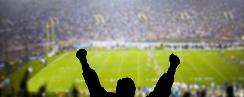 fan cheering at a football game