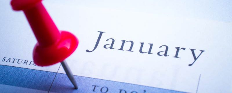 calendar with things to do in January